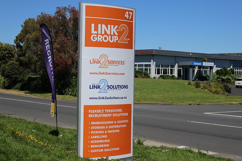 Link2 Group new look road sign